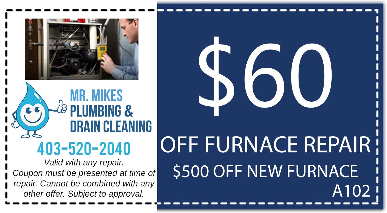 Mr. Mikes Plumbing Furnace Repair Discount Coupon