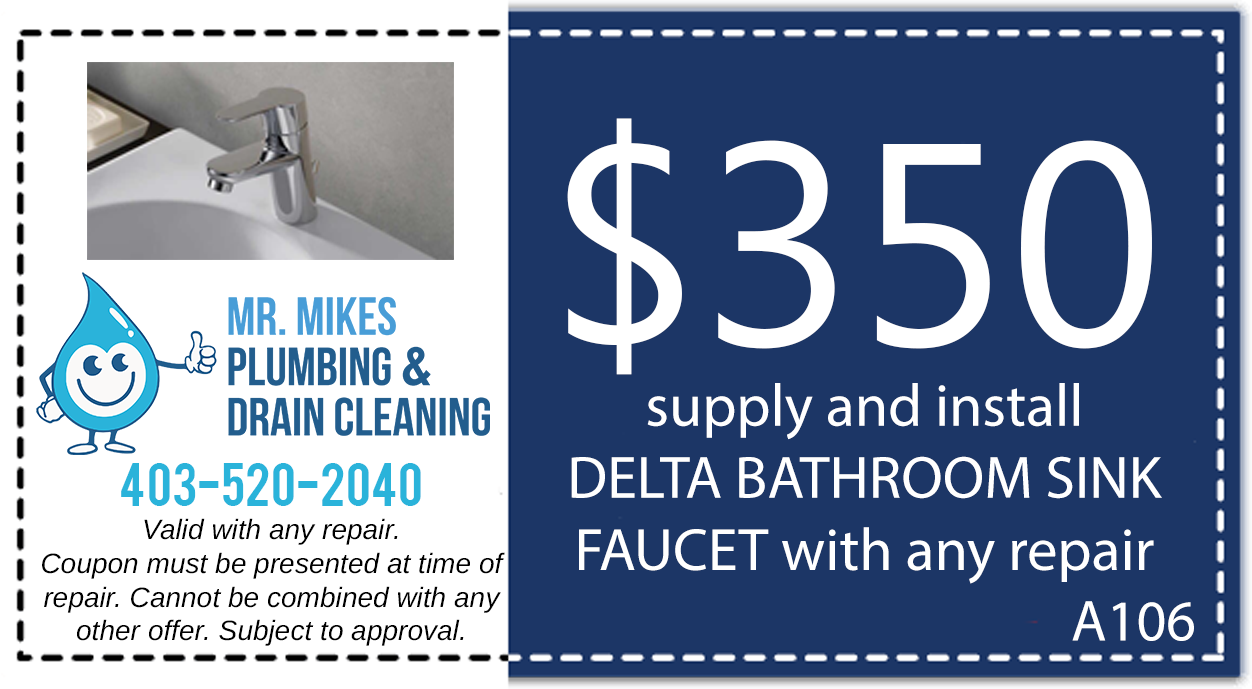 Mr. Mikes Plumbing Sink Install Discount Coupon