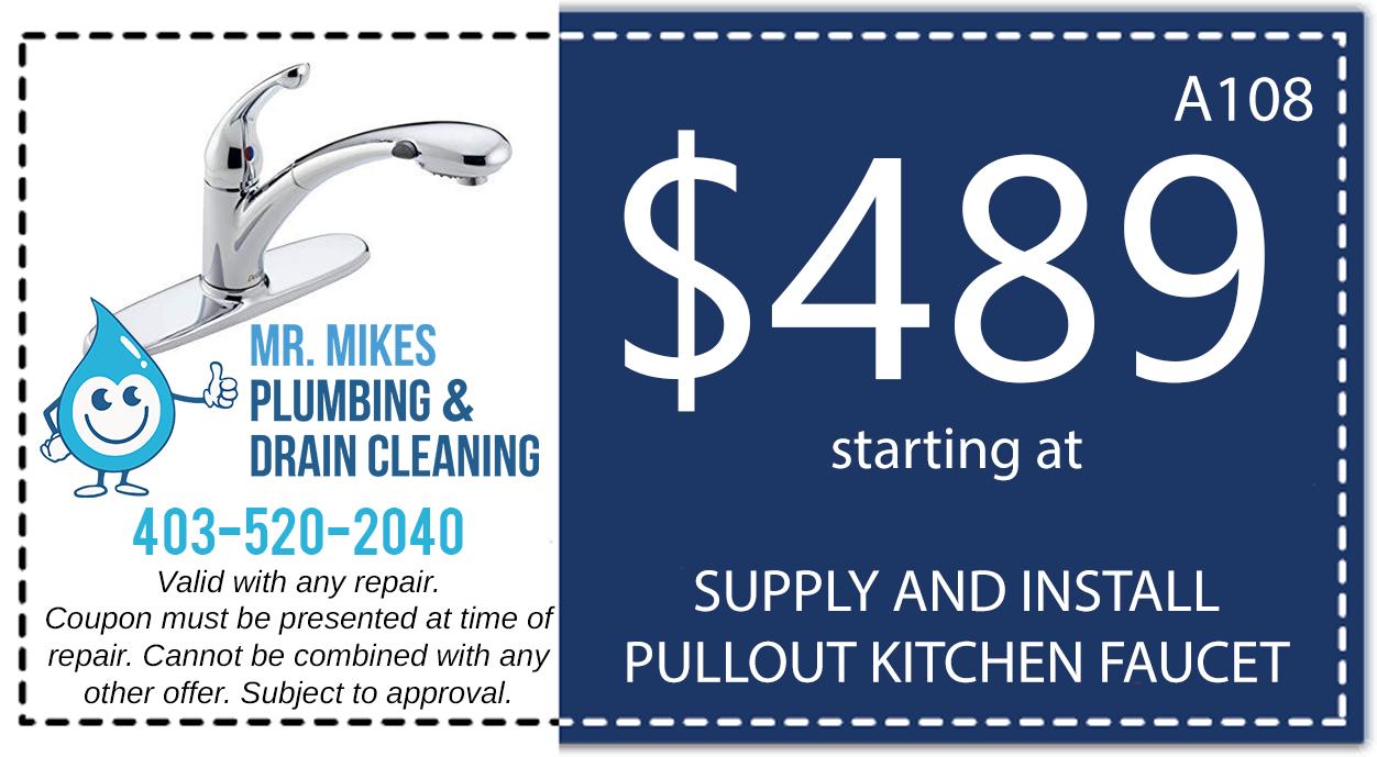 Mr. Mikes Plumbing Kitchen Faucet Discount Coupon